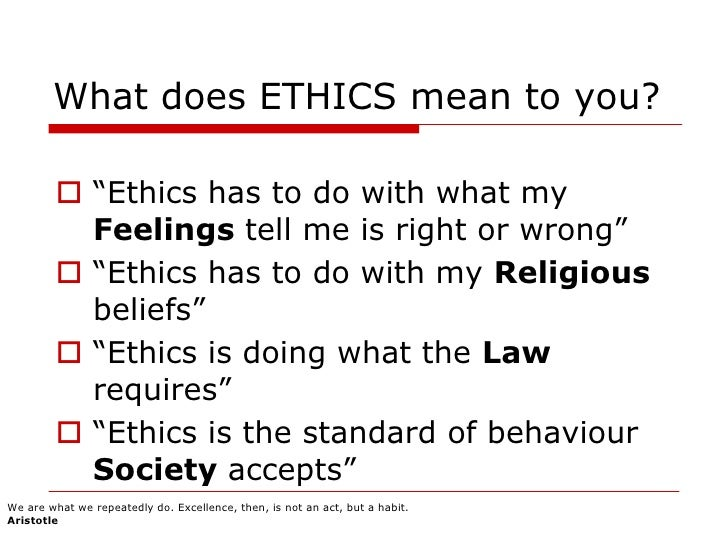 "aristotles code of ethics The article details the required content to be found in a code of conduct it said that ""item 406(b) defines a 'code of ethics' to mean written standards."