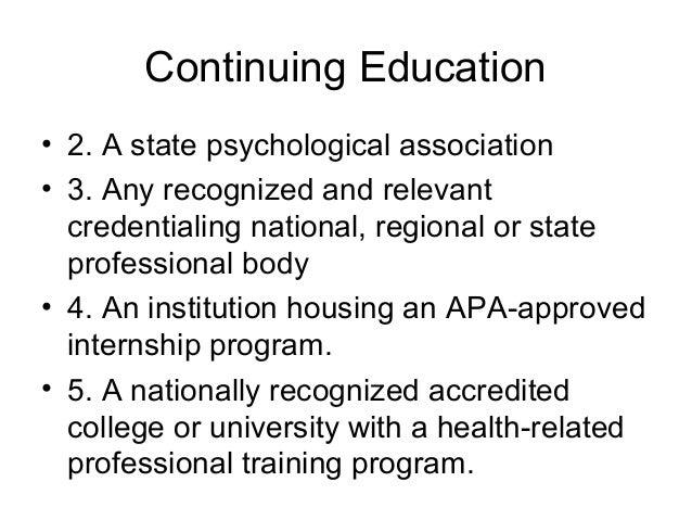 apa internship accreditation process and its relationship