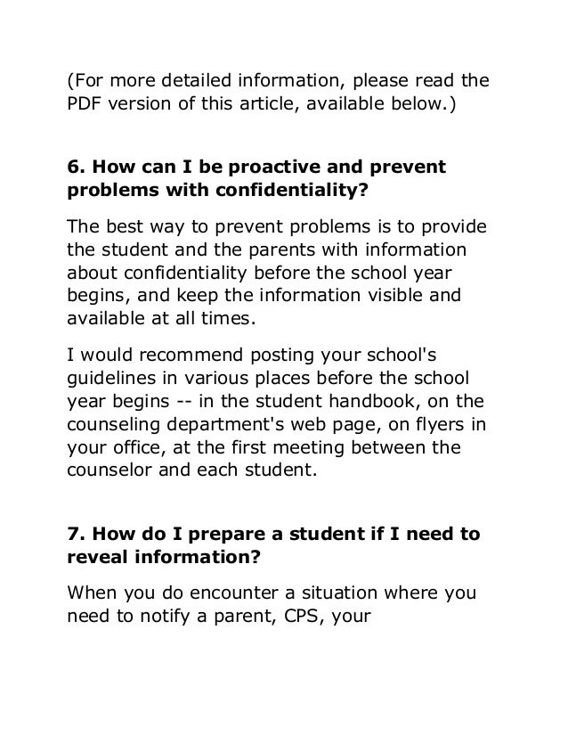 the importance of confidentiality in counselling Print the importance of ethics in counseling worksheet 1 breaking a client's confidentiality  understand what confidentiality is and the limitations to confidentiality.