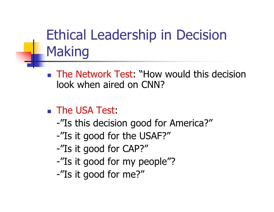 parameters of ethical decision making Stages of ethical decision makingwhen you approach an ethical decision, there are several steps or stages involved in making a good decision this chapter will be.