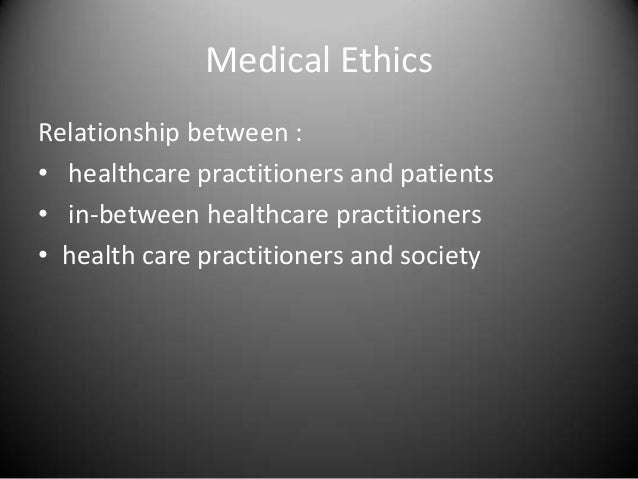 the relationship between law and medical ethics case 3
