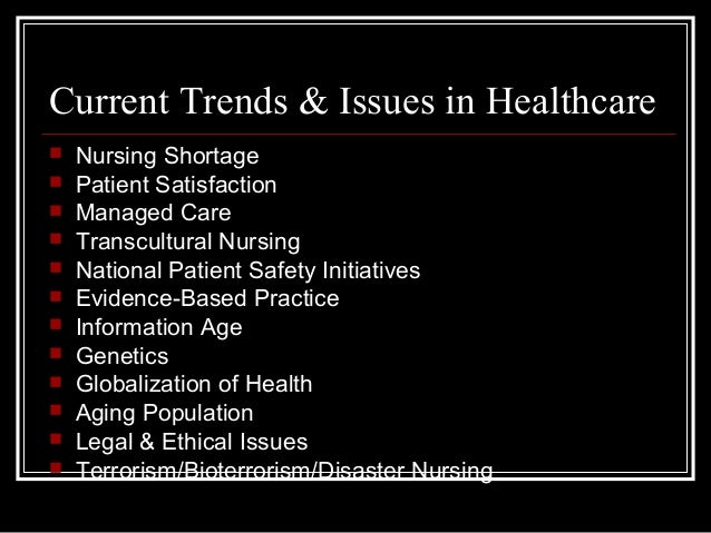 trends in nursing and bioterrorism They also work in teams that monitor community health trends and risk  public health nursing is recognized as a specialty nursing area and is supported by the.