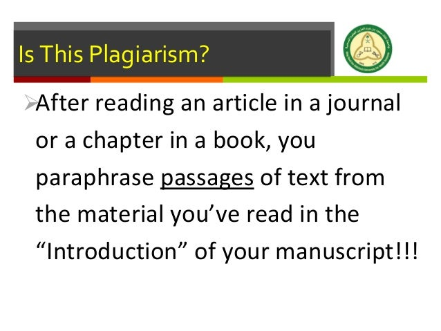 an introduction to the internet plagiarism Introduction plagiarism or academic dishonesty as it is commonly known is a rampant vice among college for instance copying from internet sources without.