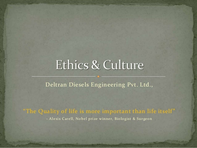 "Deltran Diesels Engineering Pvt. Ltd.,  ""The Quality of life is more important than life itself "" - Alexis Carell, Nobel p..."