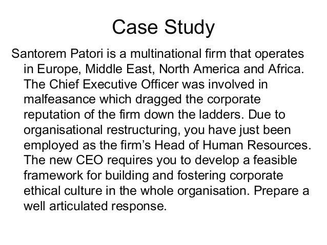 Ethics culture corporate governance case study malvernweather Choice Image
