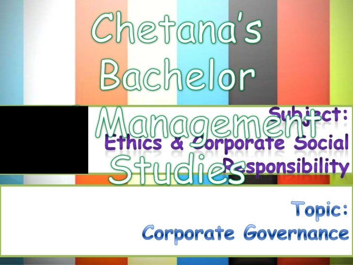 """Introduction   Corporate governance is """"the system by whichcompanies are directed and controlled"""". It involves regulatory ..."""
