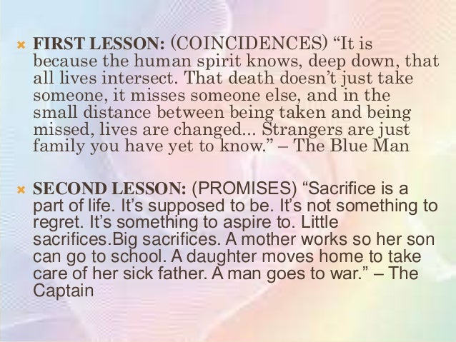 """   THIRD LESSON: (FORGIVENESS) """"People don""""t    die because of loyalty."""" """"They don""""t? religion?    government? Are we not..."""