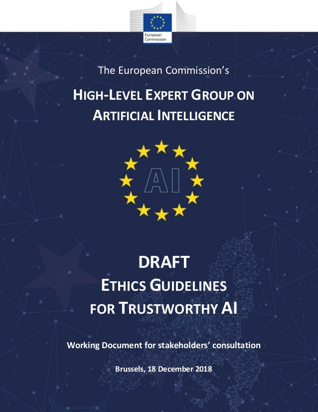 EU S Ethics Guidelines For Trustworthy AI 2019