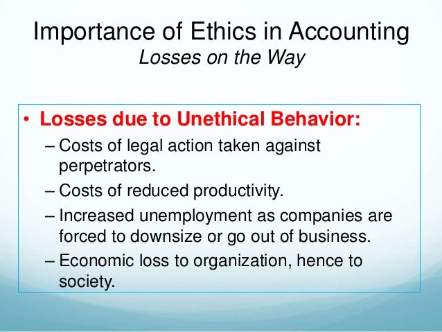 Accounting Ethics and Integrity Standards