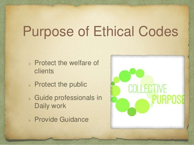Codes need to be reactive not proactive Personal Values may conflict with a standard ethic code Codes must be understood w...