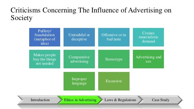 The influence of advertisments in our