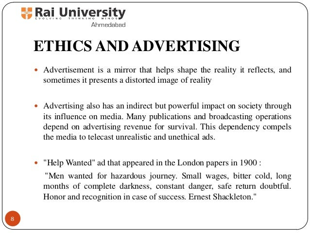 Advertising Ethics Essays (Examples)
