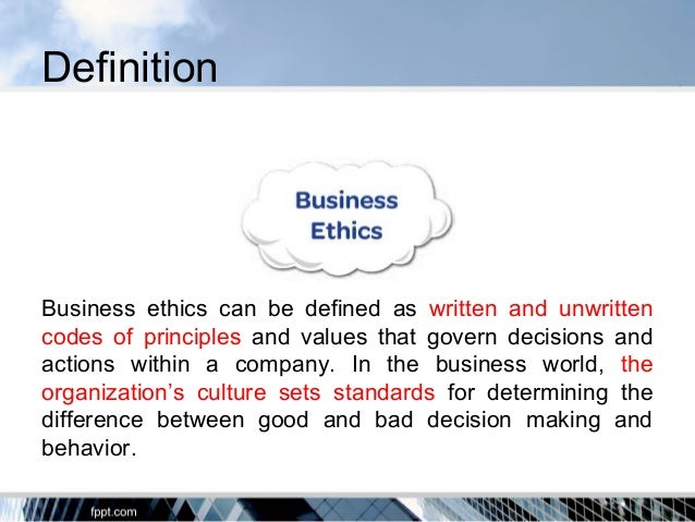 principles of business ethics