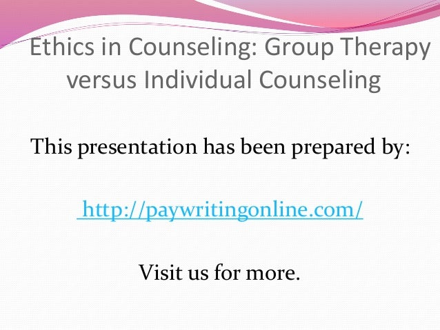 Ethics and group therapy