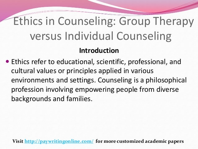 PHILOSOPHY of COUNSELING