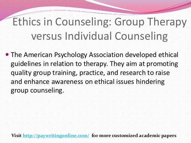 Ethical Standards of Counseling