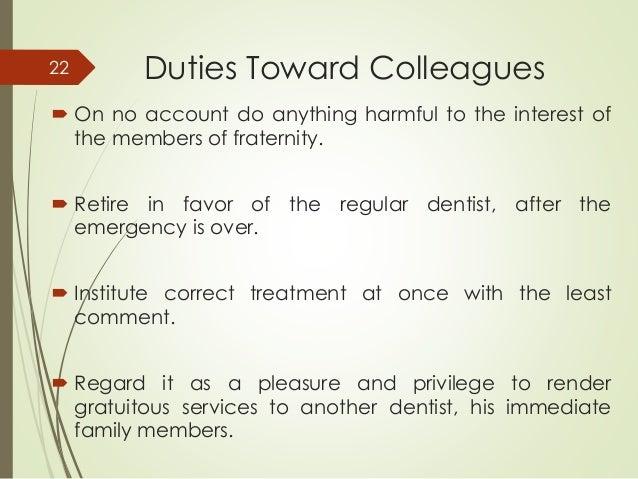 dentist duties