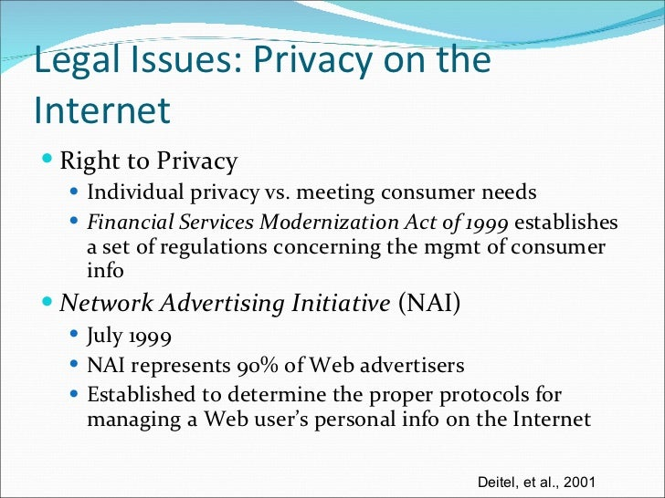 privacy and legal issues on the internet Privacy issues in today's world read the latest scientific research on privacy issues and internet security here.