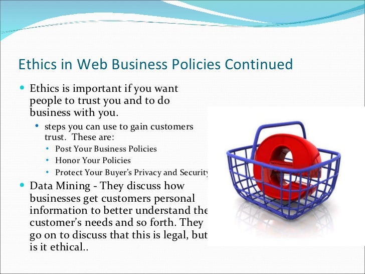 ethics in e commerce International e-commerce and ethics in e-commerce international e- commerence businesses want the world, but they don't yet grasp how complex e- c ommerence globalization can be.
