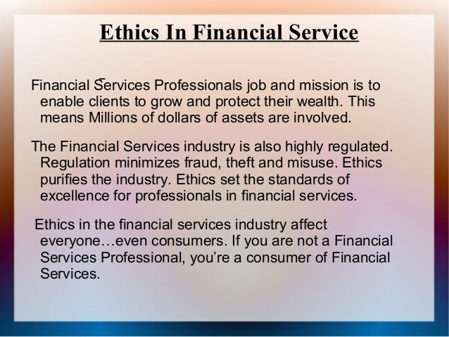 ethic in finance Work ethic refers to the act of working hard and diligently  business & finance business resources hr q: what does work ethic mean a.