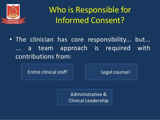 why do we need informed consent We know our clients should understand what we're doing and why we  to informed consent  we know what's best for them they need to know .