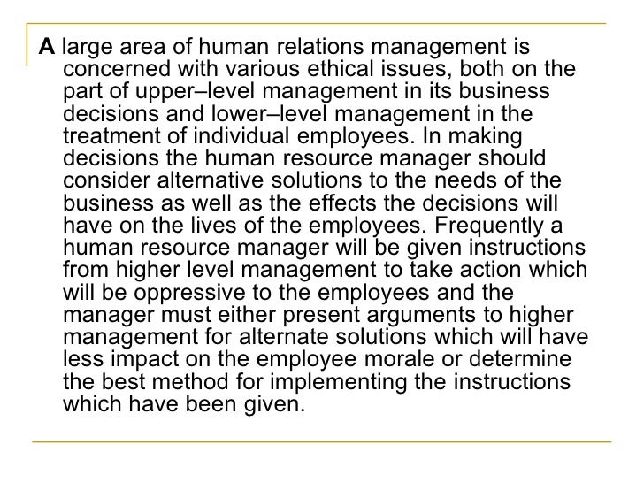 ethics in hrm Chapter 2 ethics and human resource management by amanda rose chapter outline standards, values, morals and ethics have become increasingly complex in a postmodern society where absolutes have given way to tolerance and ambiguity.