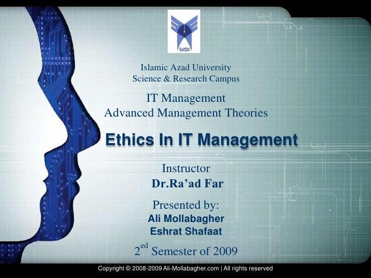 LOGO              Islamic Azad University            Science & Research Campus         IT Management  Advanced Management ...