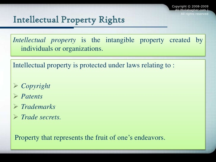 Know How Versus Intellectual Property