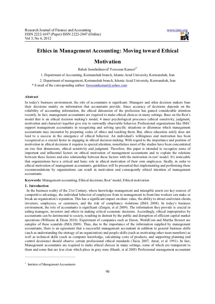 ethics in finance and accounting Taking stock of accounting ethics scholarship: a review of the journal  literature  this paper examines the uk's system for public oversight of  financial and.