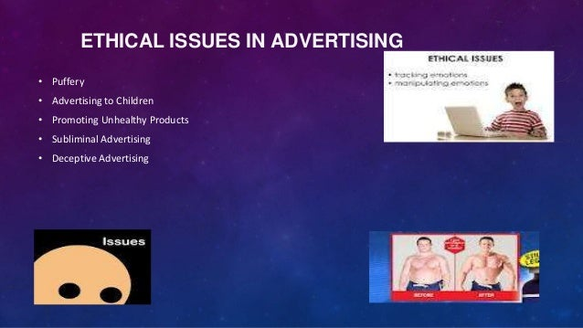 Ethical issues in advertising to children
