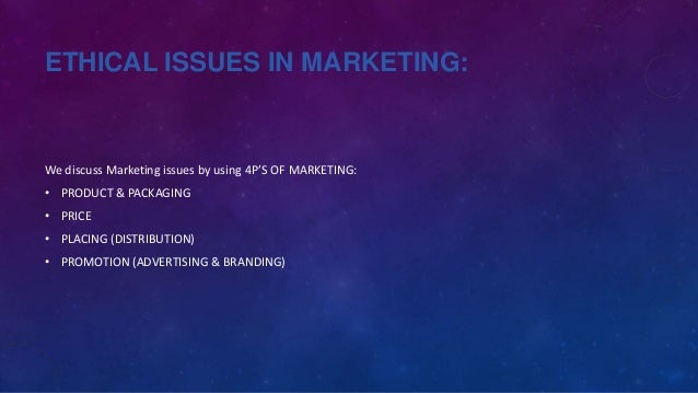 ethical issues in green marketing Some of the less obvious challenges posed by green marketing  indirect green  marketing issues   association ethical standards to get an.