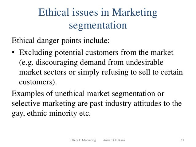 ethical issues in marketing pdf