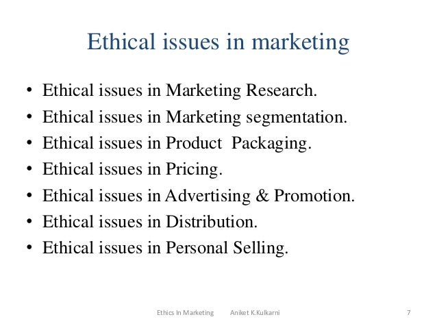 a discussion on the ethical issues in marketing 1998-9-17 pollution prevention educational resource compendium  included are discussion  this compendium provides a comprehensive overview of marketing issues.
