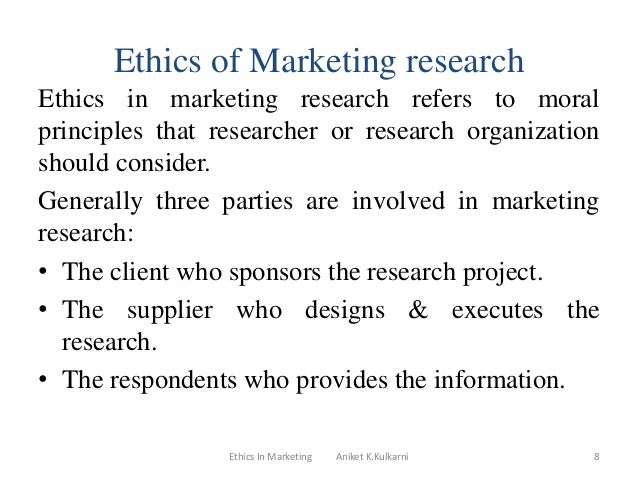 ethics in marketing research papers Ethics topics for discussion are listed papers to be published on the ethics web.