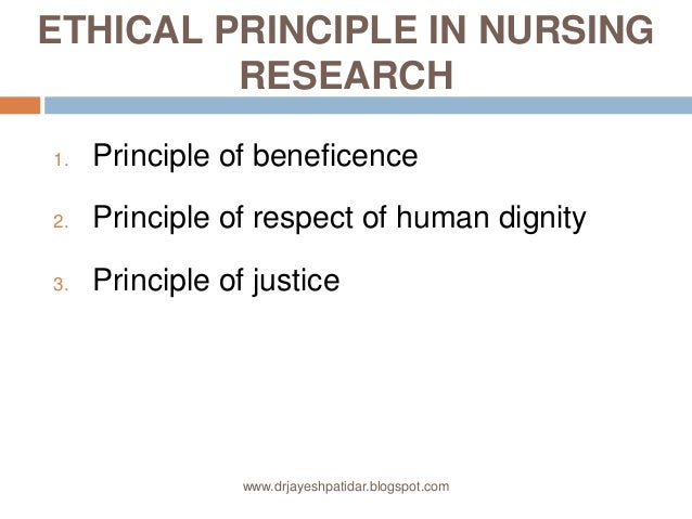 ethical principles in nursing research