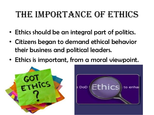 difference between ethics and politics