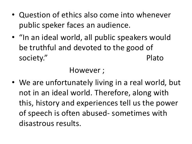 Ethics in Public Speaking