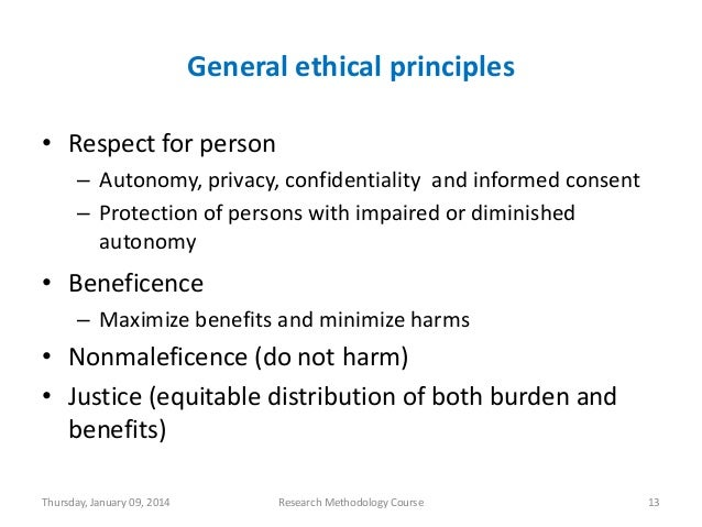 ethical guidelines for human and animal research