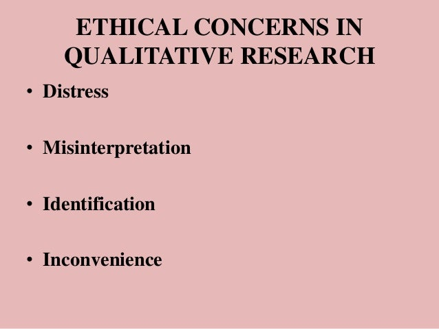 Ethical issues in quantitative research