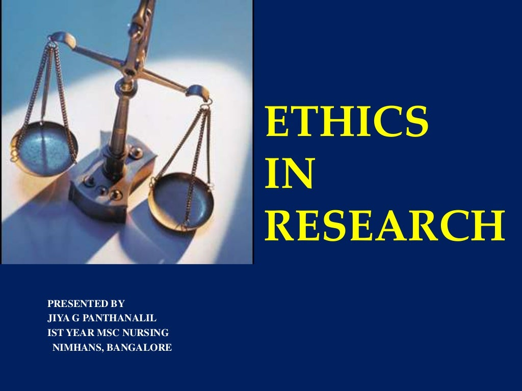 research ethics in psychology ppt