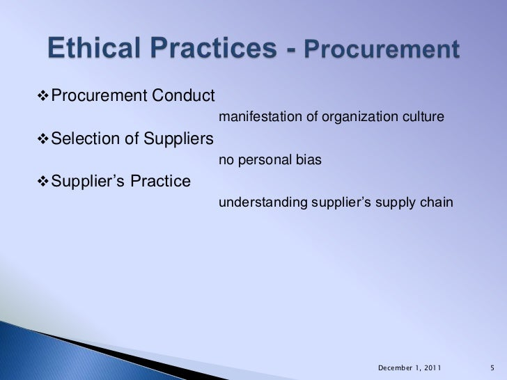 ethical issues procurement management Ethical issues in the construction industry: contractor's perspective  procurement process, ethical issues  ethical practices and issues, management.