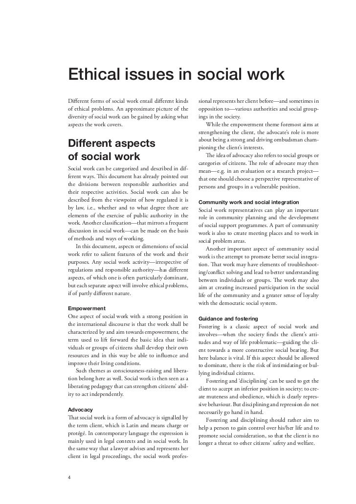 ethics in social work 3 4 ethical issues in social