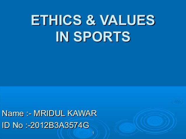 sports ethics Resource guide to the philosophy of sport and ethics of sport introduction philosophy of sport the philosophy of sport is concerned with the conceptual analysis and interrogation of ideas and issues of sports and related practices such as coaching, sports journalism and sports medicine at its most general level, it is.