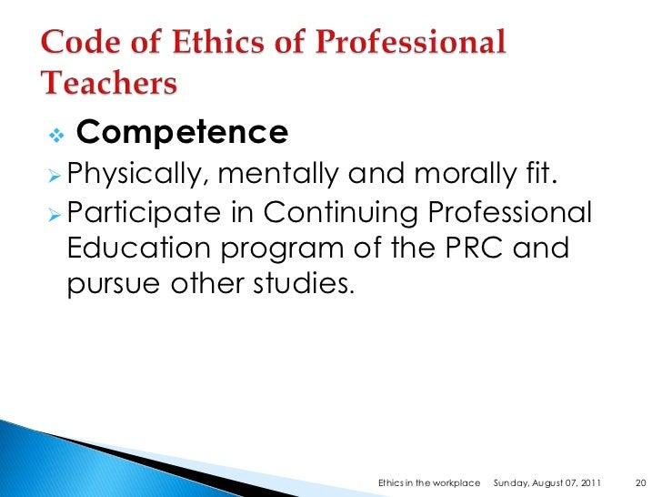 Workplace Ethics & Behavior