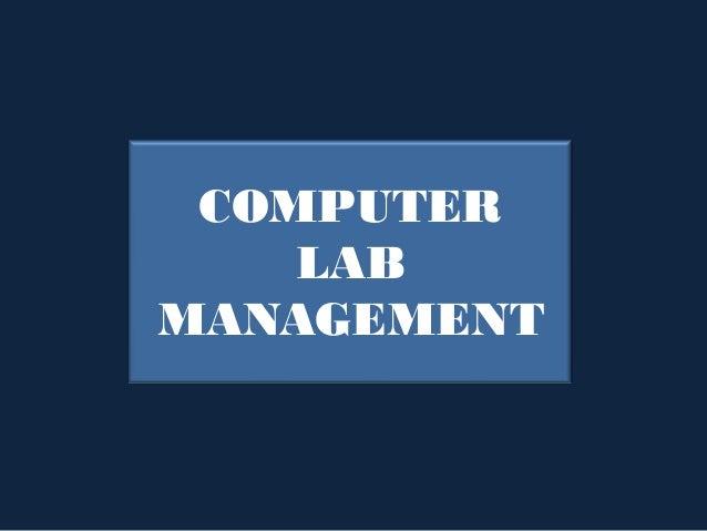 COMPUTER    LABMANAGEMENT