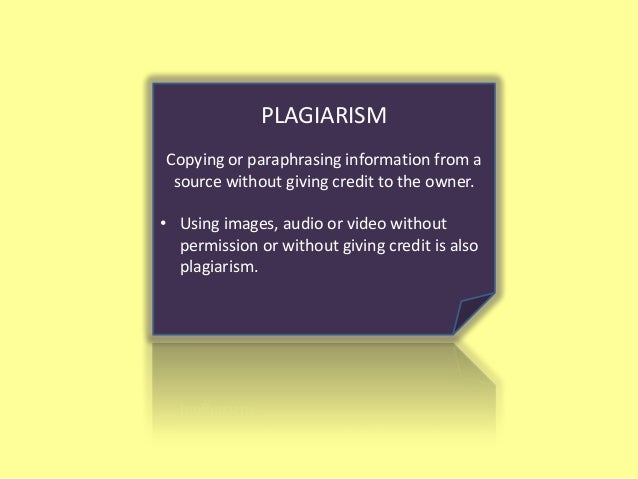 Plagiarism is a serious academic violation