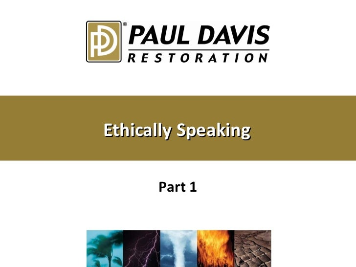 Ethically Speaking Part 1