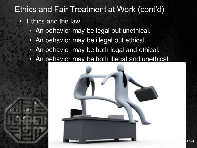 ethics justice and fair treatment in Human resource management, 15e (dessler)  fair treatment reflects concrete actions such as employees are treated  normative justice and ethical treatment d) .