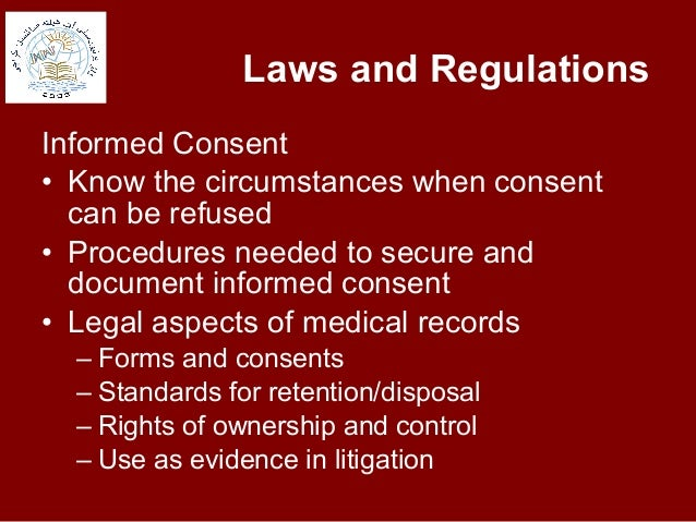 ehtical and legal guidelines of record General ethical guidelines established by and record the gist of the discussion in the client record when ethical ethical, legal, and.