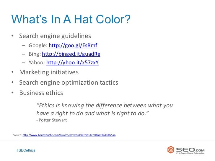 The Ethics of Black Hat and White Hat SEO Slide 2